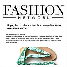Fashion Network Juillet 2018 | nupié, nupie, sandals, sandales, rubans, ribbons, handmade, gypset, fashion