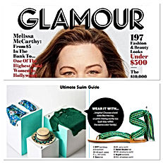 Glamour US May 2018 | nupié, nupie, sandals, ribbons, handmade, spetses green, original