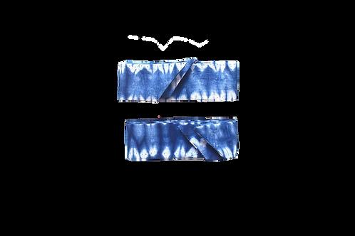 Rubans Tie and Dye Bleu