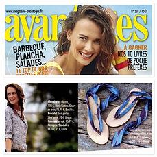 Avantages aout18 | nupié, nupie, sandales, sandals, rubans, handmade, blue, personnalisable, leather