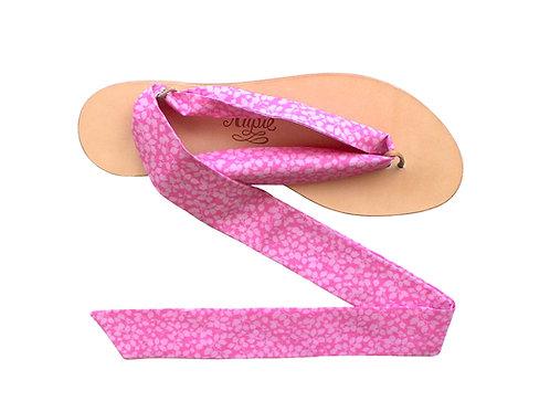 Sandales Nupié avec liens Liberty Pink