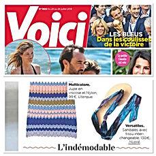 Voici Juillet 2018 | nupié, nupie, sandals, sandales, rubans, handmade, blue, personnalisable
