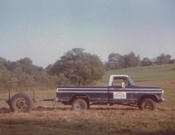 The first company truck! Crazy to think this all started with a ford F-150 and a chain saw over 40 yrs ago.