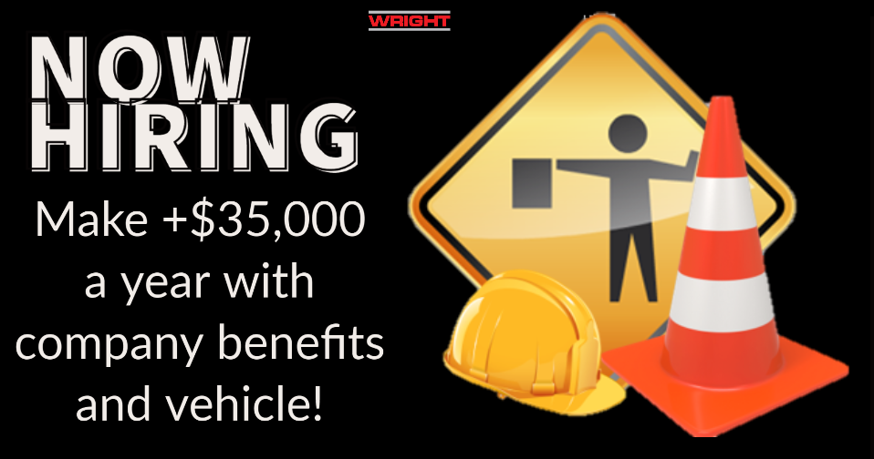Now hiring flagger sign.PNG