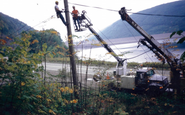 Owner, Dave Wright, working with a crew near the Kinzua Dam.