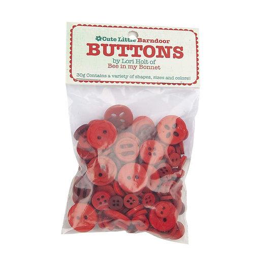 CUTE LITTLE BUTTONS RED