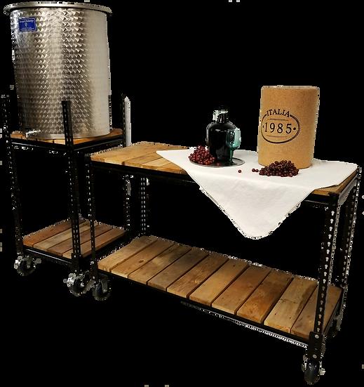 "24"" x 24"" x 54"" h | Rolling Wine Cart"