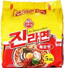 Ottogi Jin Ramen, Spicy (5 bags/pk) 오뚜기 진라면