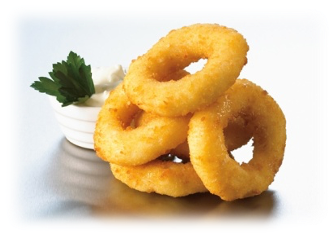 Squid Rings, Crumbled (1kg) 오징어링