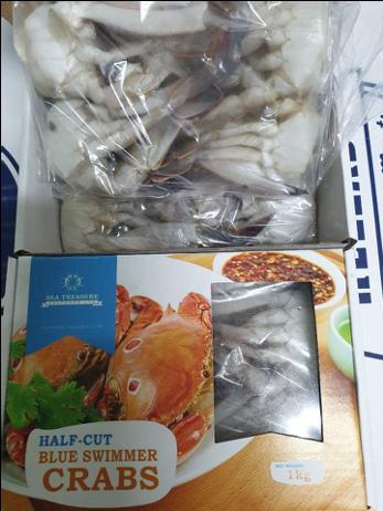 Big Size ½ Cut Crab, 1kg) 냉동 꽃게