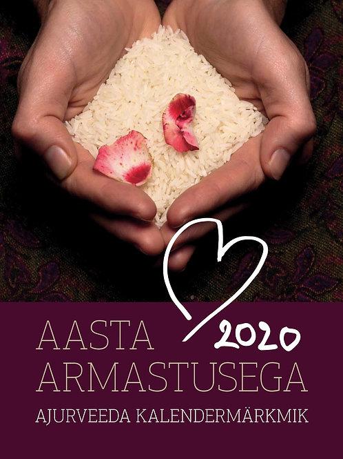 """Ajurveeda e-kalendermärkmik """"Aasta armastusega 2020"""""""