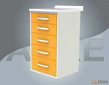 dental clinic cabinet five drawers