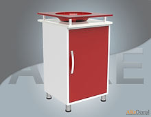glass surface dental clinical cupboard one cover with sink