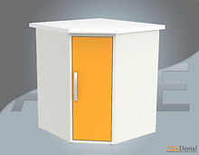 dental clinic cabinet for corner
