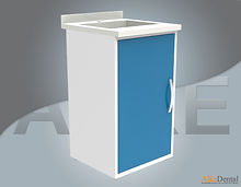 dental clinic cabinet with sink one cover