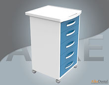 portable clinical cabinet with 5 drawer