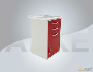 3 Drawers Laminate Surface Dental Clinical Cabinet Model Sd-Std3
