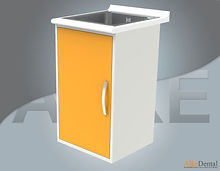 dental clinic cabinet with sink