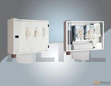 clinic cabinet for wall and hygine equipment