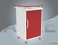 glass surface dental clinical cupboard one cover