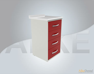 4 Drawers Laminate Surface Dental Clinical Cabinet Model Sd-Std4