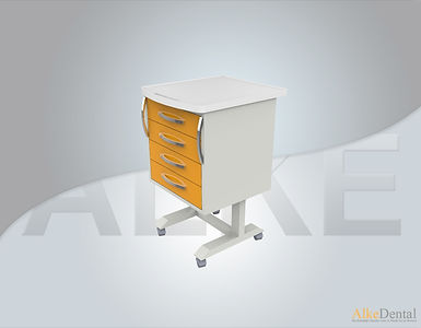 4 Drawers Acrylic Surface Portable Clinical Cabinet Model Sd-Acr-M4