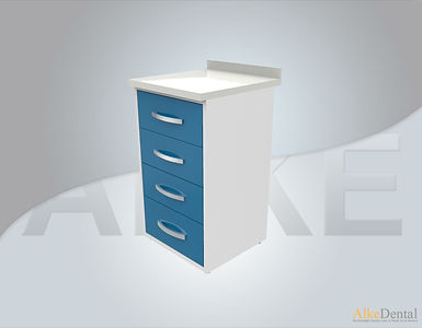 Acrylic Surface 4 Drawers Clinical Cabinet Model sd-acr4