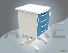 4 drawer portable clinical cabinet models