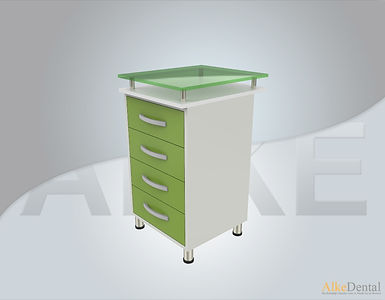 4 Drawers Glass Surface Dental Clinical Cabinet Model Sd-Gls4