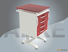for dental clinic 4 drawer portable clinical cabinet models