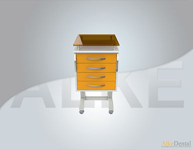 4 Drawers Glass Surface Portable Clinical Cabinet Model Sd-Gls-M4