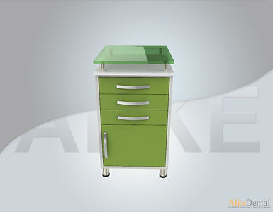 3 Drawers Glass Surface Dental Clinical Cabinet Model Sd-Gls3