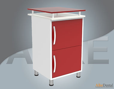 2 Cover Glass Surface Dental Clinical Cabinet Model Sd-Gls2