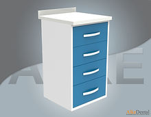 acrylic (corian) surface clinic cupboard 4 drawer