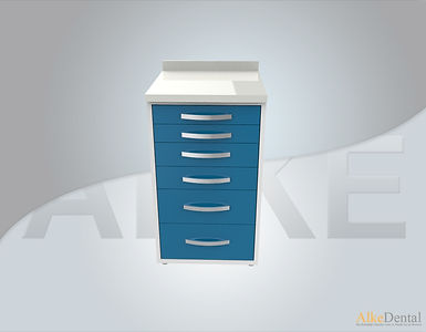Acrylic Surface 6 Drawers Clinical Cabinet Model sd-acr6
