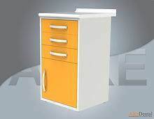 dental clinic cabinet 3 drawers