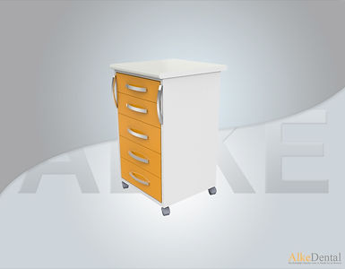 5 Drawers Laminate Surface Portable Clinical Cabinet Model Sd-Std-M5