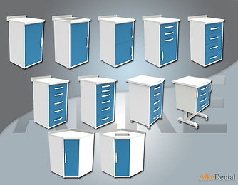 Acrylic (Corian)  Surface Clinical Cabinet Models