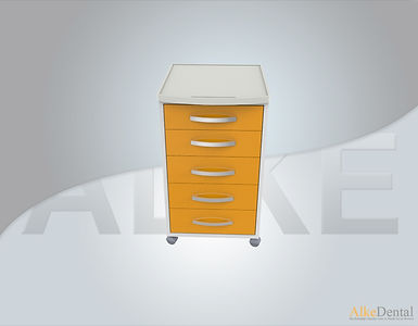 5 Drawers Acrylic Surface Portable Clinical Cabinet Model Sd-Acr-M5