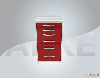 6 Drawers Laminate Surface Dental Clinical Cabinet Model Sd-Std6