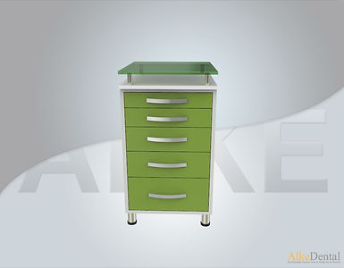 5 Drawers Glass Surface Dental Clinical Cabinet Model Sd-Gls5