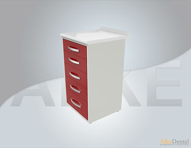 5 Drawers Laminate Surface Dental Clinical Cabinet Model Sd-Std5