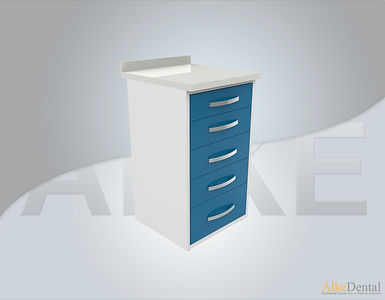 Acrylic Surface 5 Drawers Clinical Cabinet Model sd-acr5