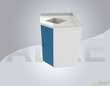 Acrylic Surface For Corner With Sink Clinical Cabinet Model sd-acr7s