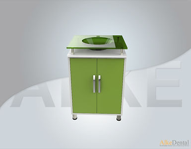 2 Cover With Sink Glass Surface Dental Clinical Cabinet Model Sd-Gls6