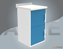 acrylic (corian) surface clinic cupboard 2 cover