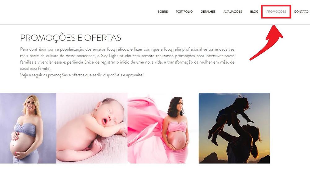 Imagem da nova página de promoções do site