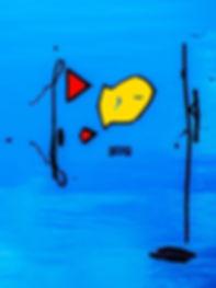Fisch vor der Angel