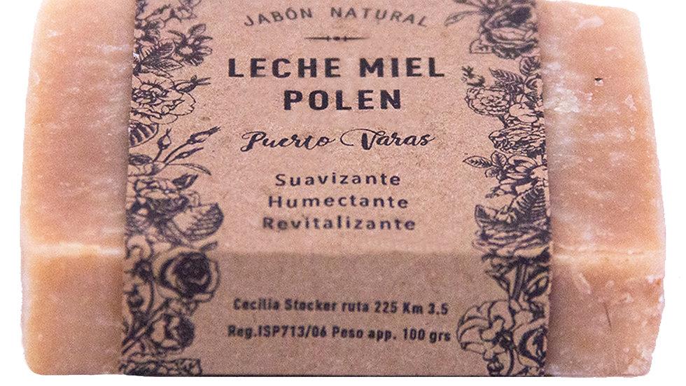 Jabón Natural Leche, Miel y Polen 100 g
