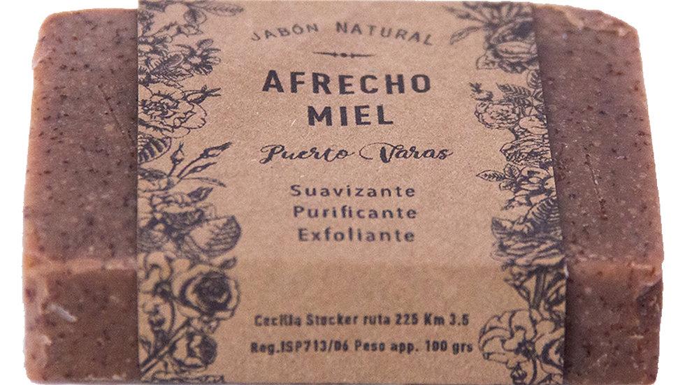 Jabón Natural Afrecho y Miel 100g
